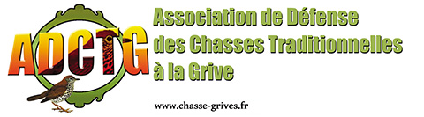 autocollant de l'association de defense des chasses traditionnelles à la grive (ADCTG)